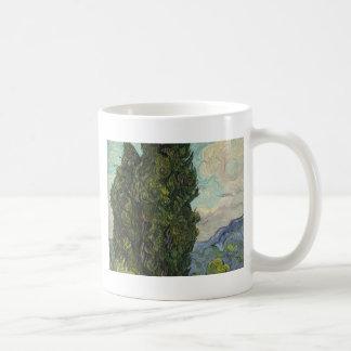 Vincent van Gogh - Zypressen-Malen Kaffeetasse