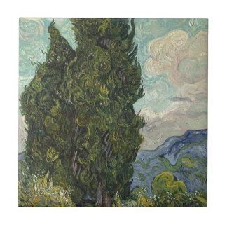 Vincent van Gogh - Zypressen-Malen Keramikfliese