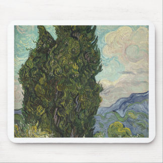 Vincent van Gogh - Zypressen-Malen Mousepad
