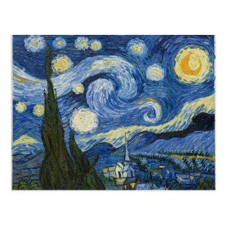 Vincent van Goghs sternenklare Nacht Postkarte