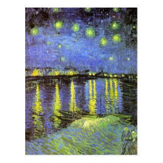 Vincent van Goghs sternenklare Nacht über der Postkarte