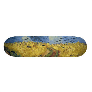 Vincent van Goghs Weizen-Feld mit Krähen (1890) Skateboard Deck