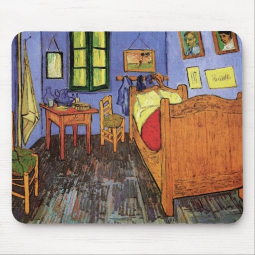 Schlafzimmer In Arles : Vincents Schlafzimmer in Arles durch Vincent van G Mousepads  Zazzle