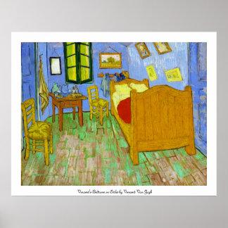 Vincents Schlafzimmer in Arles durch Vincent van G Poster