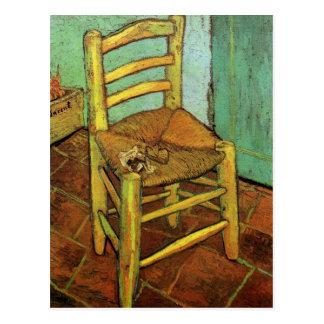 Vincents Stuhl mit seinem Rohr durch Vincent van Postkarte