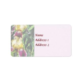 Vingolf Irises Hochzeits-Produkte Adressaufkleber