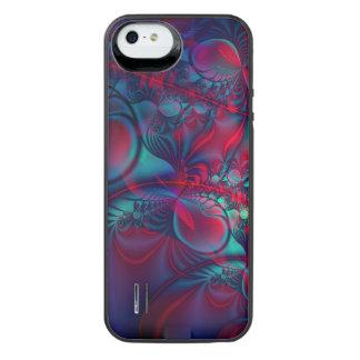 Vining rote abstrakte Fraktal-Kunst iPhone SE/5/5s Batterie Hülle