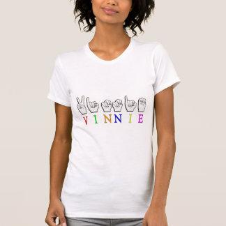 VINNIE FINGERSPELLED ASL NAMENSzeichen T-Shirt