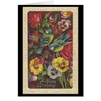 Vintag - alles Gute zum Geburtstag Grußkarte