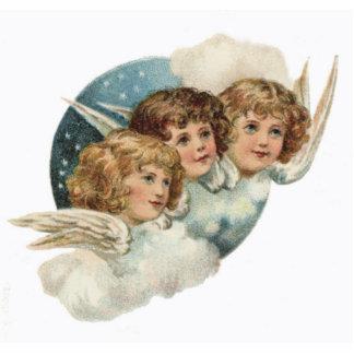 Vintag, Antike-Engel Weihnachtsverzierung Fotoskulptur Ornament