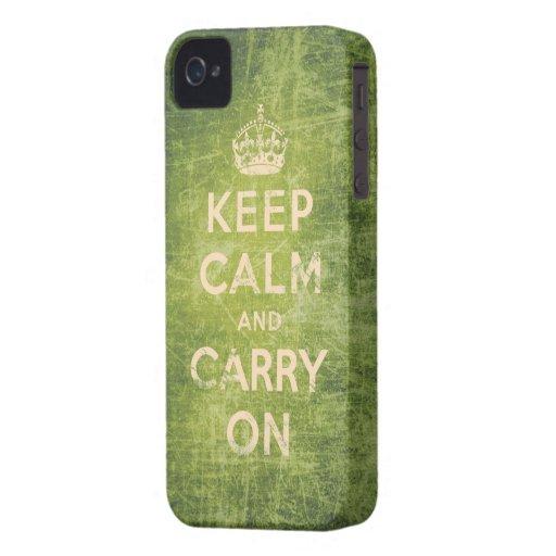 Vintag behalten Sie Ruhe und machen Sie weiter iPhone 4 Case-Mate Hülle