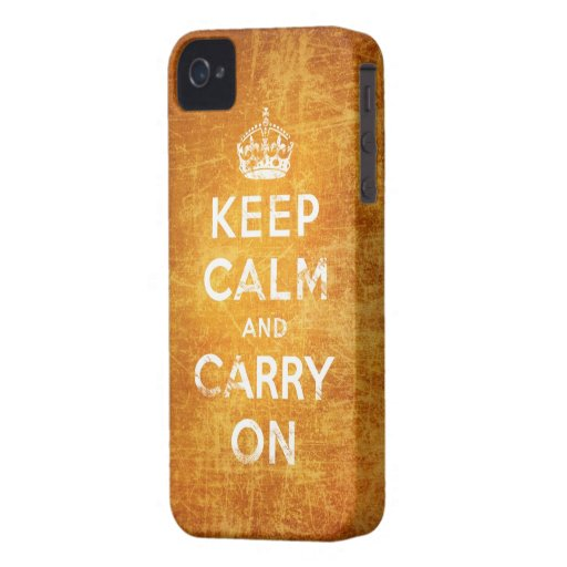 Vintag behalten Sie Ruhe und machen Sie weiter Case-Mate iPhone 4 Hülle