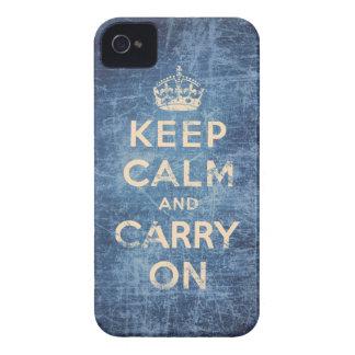 Vintag behalten Sie Ruhe und machen Sie weiter iPhone 4 Hülle