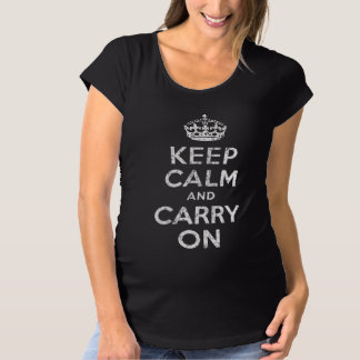 Vintag behalten Sie ruhig und machen Sie die Umstands-T-Shirt