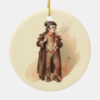 Vintag die kunstvolle Drehung Dodger Oliver Keramik Ornament
