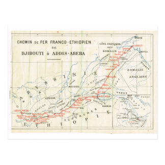 Vintag, Eisenbahn? franco_Ethiopian Postkarte