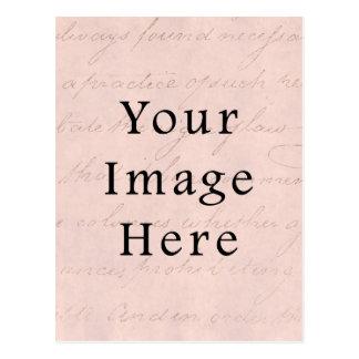 Vintag erblassen Sie - rosa Postkarte