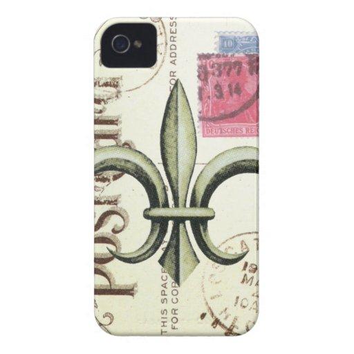 Vintag-Fleur de Lis Porto-iphone 4 Fall iPhone 4 Hülle