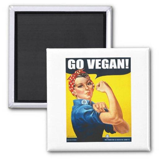 Vintag gehen Sie vegan Kühlschrankmagnet