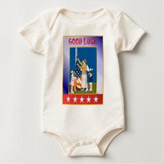 Vintag Juli 4., amerikanisches patriotisches Baby Strampler