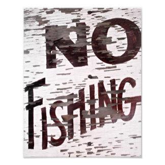 Vintag kein Fischen-Zeichen Kunstphoto