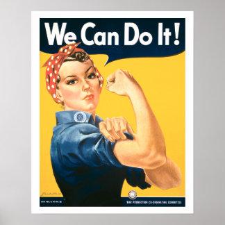 Vintag können wir es tun Rosie Plakat