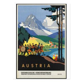 Vintag - Österreich-Reise-Plakat Postkarte