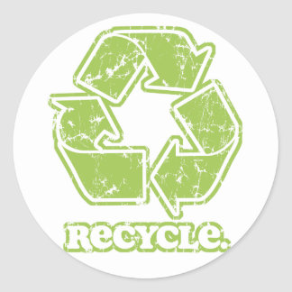 Recycling Aufkleber