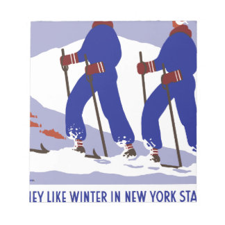 Vintag-Reise-Plakat-Neu-York-Amerika-USA Notizblock