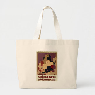 Vintag-Reise-Plakat-Pueblo-Von-D-Südwesten Jumbo Stoffbeutel