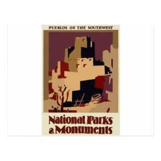 Vintag-Reise-Plakat-Pueblo-Von-D-Südwesten Postkarte