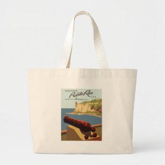 Vintag-Reise-Plakat-Puerto-Rico Jumbo Stoffbeutel