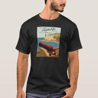 Vintag-Reise-Plakat-Puerto-Rico T-Shirt