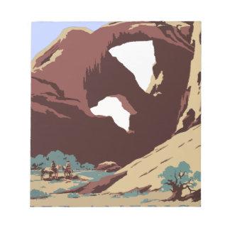 Vintag-Reise-Plakat-Südwesten-Amerika-USA Memo Block