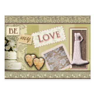 Vintag seien Sie meine Liebe Postkarte
