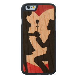 Vintag: Valentinstag - Carved® iPhone 6 Hülle Kirsche