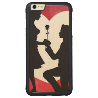 Vintag: Valentinstag - Carved® Maple iPhone 6 Plus Bumper Hülle