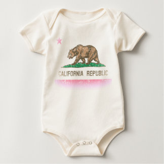 Vintag verblassen Kalifornien-Republik-Flagge Baby Strampler
