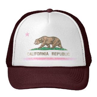 Vintag verblassen Kalifornien-Republik-Flagge Baseballmütze