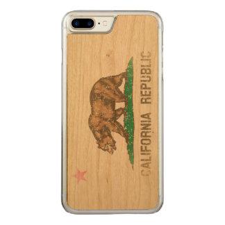 Vintag verblassen Kalifornien-Republik-Flagge Carved iPhone 8 Plus/7 Plus Hülle