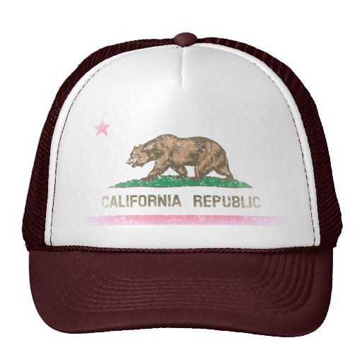 Vintag verblassen Kalifornien-Republik-Flagge Kultmütze