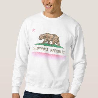 Vintag verblassen Kalifornien-Republik-Flagge Sweatshirt
