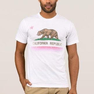 Vintag verblassen Kalifornien-Republik-Flagge T-Shirt