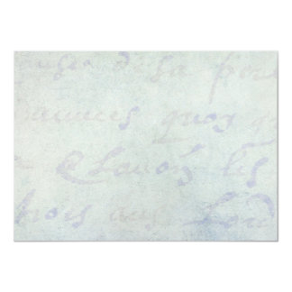 Vintage 1700s französische 11,4 x 15,9 cm einladungskarte