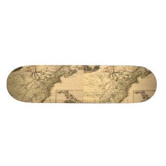 Vintage 1777 amerikanische Kolonien-Karte durch Personalisiertes Skateboarddeck