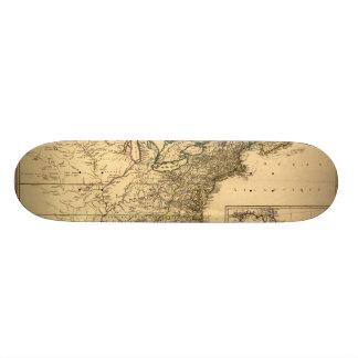 Vintage 1777 amerikanische Kolonien-Karte durch Skateboarddeck