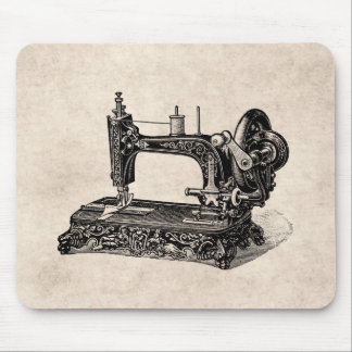 Vintage 1800s Nähmaschine-Illustration Mousepads