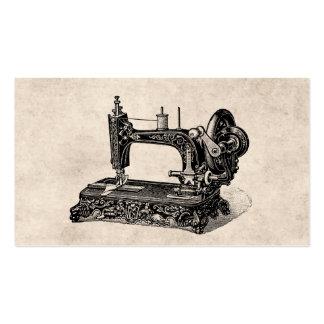 Vintage 1800s Nähmaschine-Illustration Visitenkarten
