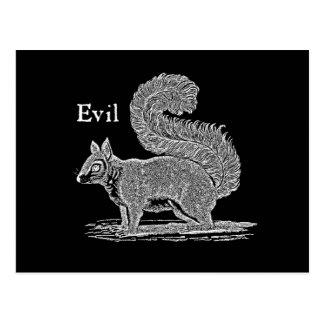 Vintage 1800s schlechte Eichhörnchen-Illustration Postkarte
