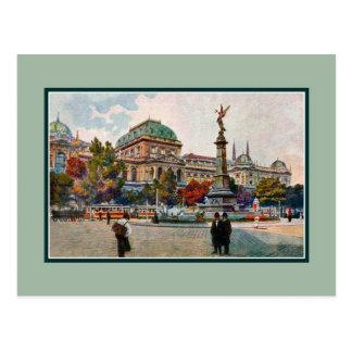 Vintage 1900s Universität von Wien-Kunst Postkarte